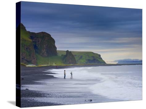Black Sand Beach, Vik, Cape Dyrholaey, South Coast, Iceland-Michele Falzone-Stretched Canvas Print