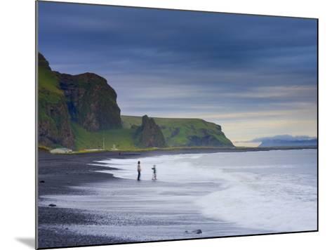 Black Sand Beach, Vik, Cape Dyrholaey, South Coast, Iceland-Michele Falzone-Mounted Photographic Print