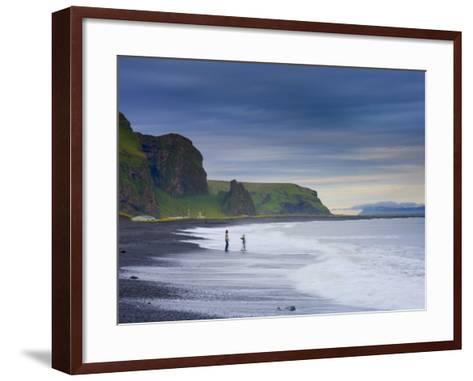 Black Sand Beach, Vik, Cape Dyrholaey, South Coast, Iceland-Michele Falzone-Framed Art Print