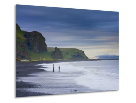 Black Sand Beach, Vik, Cape Dyrholaey, South Coast, Iceland-Michele Falzone-Metal Print