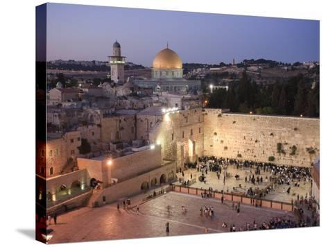 Wailing Wall, Western Wall and Dome of the Rock Mosque, Jerusalem, Israel-Michele Falzone-Stretched Canvas Print
