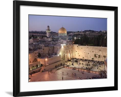 Wailing Wall, Western Wall and Dome of the Rock Mosque, Jerusalem, Israel-Michele Falzone-Framed Art Print