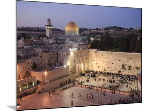 Wailing Wall, Western Wall and Dome of the Rock Mosque, Jerusalem, Israel-Michele Falzone-Mounted Photographic Print