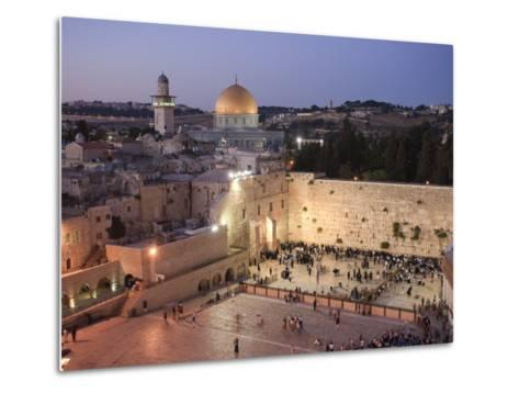 Wailing Wall, Western Wall and Dome of the Rock Mosque, Jerusalem, Israel-Michele Falzone-Metal Print