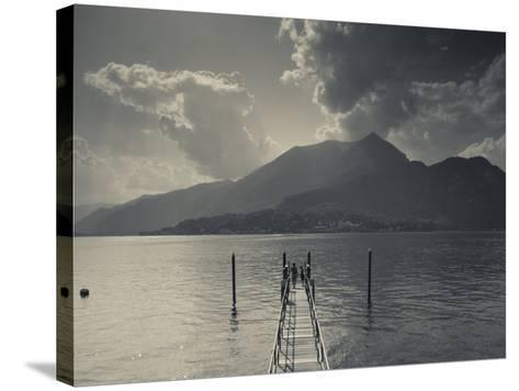 Lombardy, Lakes Region, Lake Como, Bellagio, Grand Hotel Villa Serbelloni, Lakefront, Italy-Walter Bibikow-Stretched Canvas Print