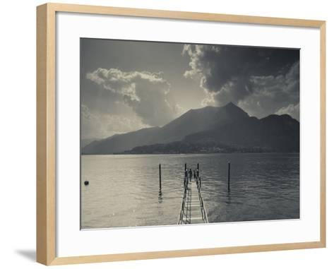 Lombardy, Lakes Region, Lake Como, Bellagio, Grand Hotel Villa Serbelloni, Lakefront, Italy-Walter Bibikow-Framed Art Print