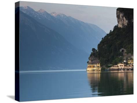 Trentino-Alto Adige, Lake District, Lake Garda, Riva Del Garda, Excelsior Hotel at La Punta, Italy-Walter Bibikow-Stretched Canvas Print