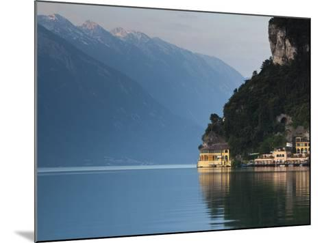 Trentino-Alto Adige, Lake District, Lake Garda, Riva Del Garda, Excelsior Hotel at La Punta, Italy-Walter Bibikow-Mounted Photographic Print