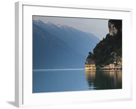 Trentino-Alto Adige, Lake District, Lake Garda, Riva Del Garda, Excelsior Hotel at La Punta, Italy-Walter Bibikow-Framed Art Print