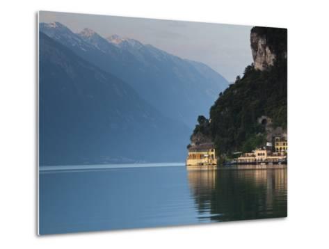 Trentino-Alto Adige, Lake District, Lake Garda, Riva Del Garda, Excelsior Hotel at La Punta, Italy-Walter Bibikow-Metal Print