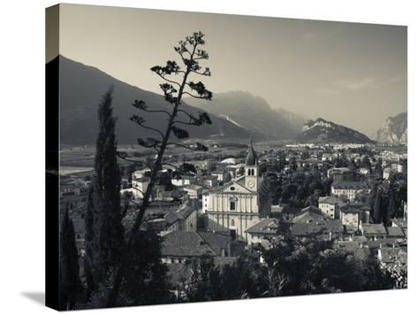 Trentino-Alto Adige, Lake District, Lake Garda, Arco, Collegiata Church, Italy-Walter Bibikow-Stretched Canvas Print