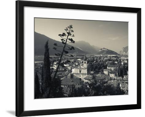 Trentino-Alto Adige, Lake District, Lake Garda, Arco, Collegiata Church, Italy-Walter Bibikow-Framed Art Print