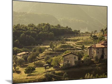 Lombardy, Lake District, Lake Garda, Tremosine Plateau, Mountain Landscape by Cadignano, Italy-Walter Bibikow-Mounted Photographic Print