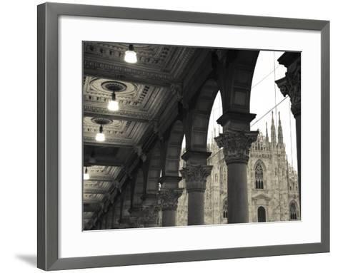 Lombardy, Milan, Piazza Del Duomo, Duomo, Cathedral, Dawn, Italy-Walter Bibikow-Framed Art Print