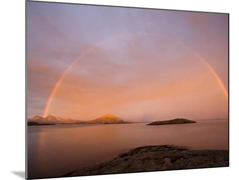 Nordland, Helgeland, A Rainbow at Midnight, Norway-Mark Hannaford-Mounted Photographic Print
