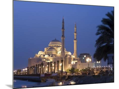 United Arab Emirates, Sharjah, Sharjah Mosque by the Corniche, Dusk-Michele Falzone-Mounted Photographic Print