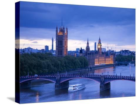 Houses of Parliament and River Thames, London, England, UK-Jon Arnold-Stretched Canvas Print