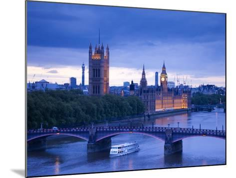 Houses of Parliament and River Thames, London, England, UK-Jon Arnold-Mounted Photographic Print