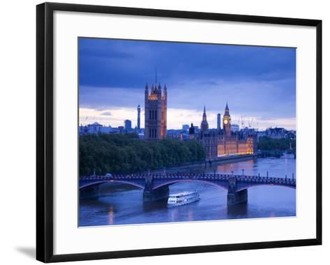 Houses of Parliament and River Thames, London, England, UK-Jon Arnold-Framed Art Print