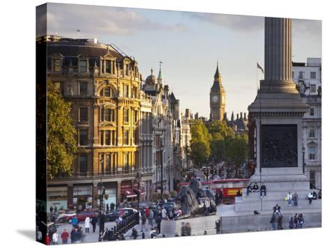 Big Ben, Whitehall and Trafalgar Sqaure, London, England-Jon Arnold-Stretched Canvas Print
