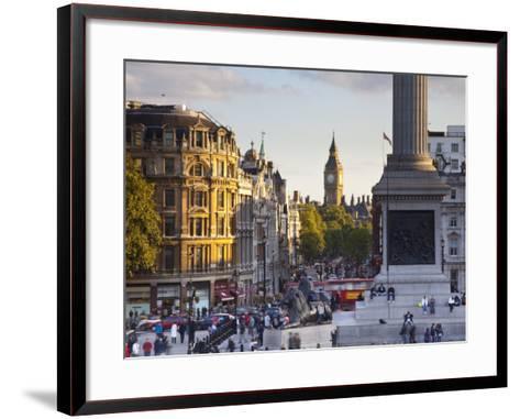 Big Ben, Whitehall and Trafalgar Sqaure, London, England-Jon Arnold-Framed Art Print