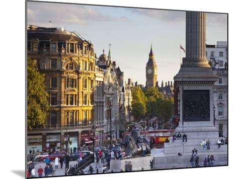 Big Ben, Whitehall and Trafalgar Sqaure, London, England-Jon Arnold-Mounted Photographic Print
