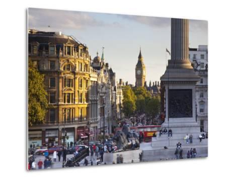 Big Ben, Whitehall and Trafalgar Sqaure, London, England-Jon Arnold-Metal Print