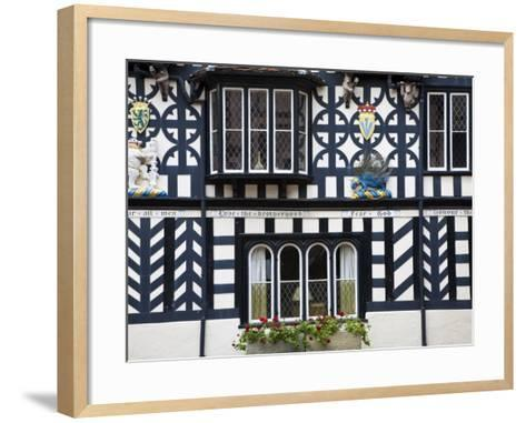 Warwickshire, Warwick, Lord Leycester Hospital, Courtyard, Timber Framed Building, England-Jane Sweeney-Framed Art Print