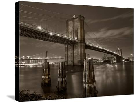 New York City, Manhattan, the Brooklyn and Manhattan Bridges Spanning the East River, USA-Gavin Hellier-Stretched Canvas Print
