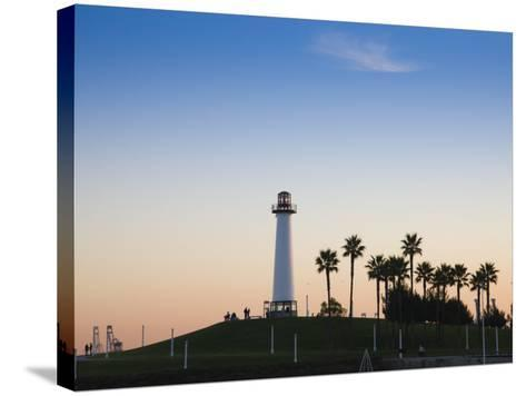 California, Long Beach, Shoreline Village Lighthouse, USA-Walter Bibikow-Stretched Canvas Print