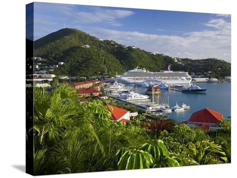Us Virgin Islands, St, Thomas, Charlotte Amalie and Havensight Cruise Ship Dock, Caribbean-Gavin Hellier-Stretched Canvas Print