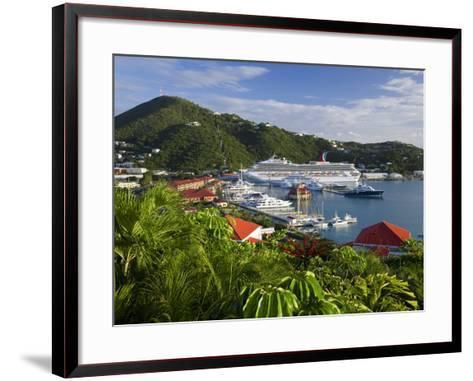 Us Virgin Islands, St, Thomas, Charlotte Amalie and Havensight Cruise Ship Dock, Caribbean-Gavin Hellier-Framed Art Print