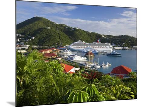 Us Virgin Islands, St, Thomas, Charlotte Amalie and Havensight Cruise Ship Dock, Caribbean-Gavin Hellier-Mounted Photographic Print