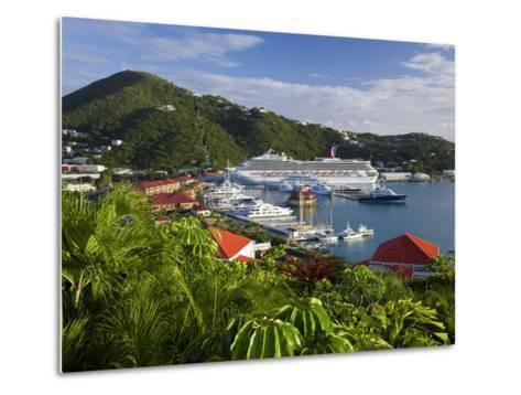 Us Virgin Islands, St, Thomas, Charlotte Amalie and Havensight Cruise Ship Dock, Caribbean-Gavin Hellier-Metal Print