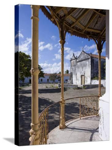 Catholic Church on the Main Square of Ibo Island, Part of the Quirimbas Archipelago, Mozambique-Julian Love-Stretched Canvas Print