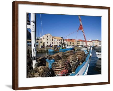 Fishing Boats in Victoria Dock, Hobart, Tasmania-Julian Love-Framed Art Print