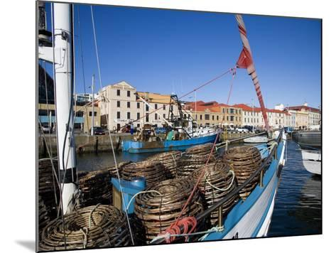 Fishing Boats in Victoria Dock, Hobart, Tasmania-Julian Love-Mounted Photographic Print
