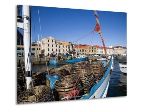 Fishing Boats in Victoria Dock, Hobart, Tasmania-Julian Love-Metal Print