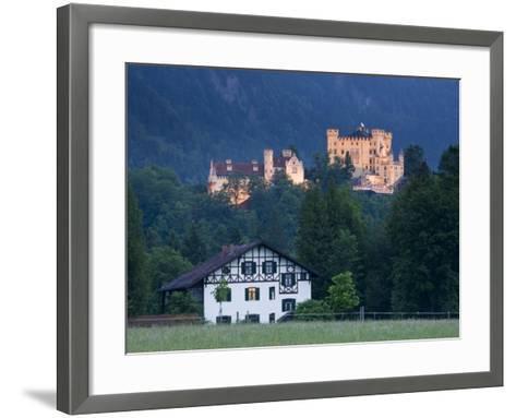 Bayern/Bavaria, Deutsche Alpenstrasse, Schwangau, Schloss Hohenschwangau, Germany-Walter Bibikow-Framed Art Print