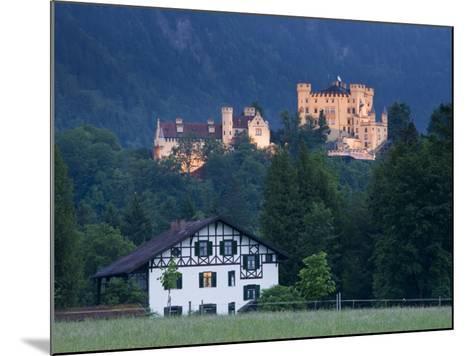 Bayern/Bavaria, Deutsche Alpenstrasse, Schwangau, Schloss Hohenschwangau, Germany-Walter Bibikow-Mounted Photographic Print