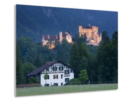 Bayern/Bavaria, Deutsche Alpenstrasse, Schwangau, Schloss Hohenschwangau, Germany-Walter Bibikow-Metal Print