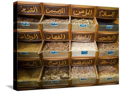 Spices for Sale in the Souq-Al-Atterine Near Khan El-Khalili, Cairo, Egypt-Julian Love-Stretched Canvas Print