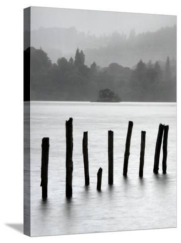 Remains of Jetty in the Mist, Derwentwater, Cumbria, England, UK-Nadia Isakova-Stretched Canvas Print