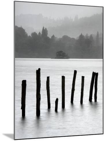 Remains of Jetty in the Mist, Derwentwater, Cumbria, England, UK-Nadia Isakova-Mounted Photographic Print
