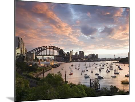 New South Wales, Lavendar Bay Toward the Habour Bridge and the Skyline of Central Sydney, Australia-Andrew Watson-Mounted Photographic Print