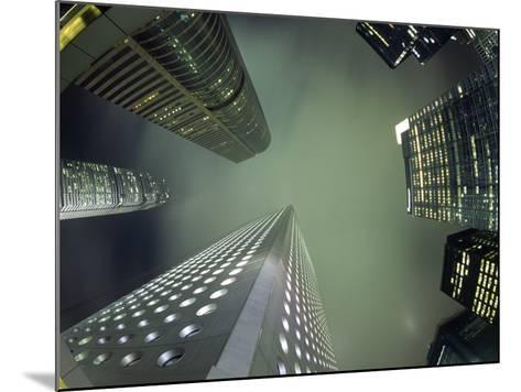 Highrises Soar over the Business District of Central on Hong Kong Island-Andrew Watson-Mounted Photographic Print