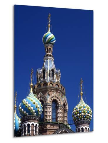 St Petersburg, the Church on Spilt Blood, Russia-Nick Laing-Metal Print