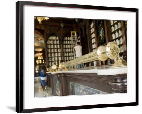 Havana, Traditional Pharmacy, Taquechel on Calle Obispo, Havana Vieja, Cuba, Cuba-Paul Harris-Framed Art Print