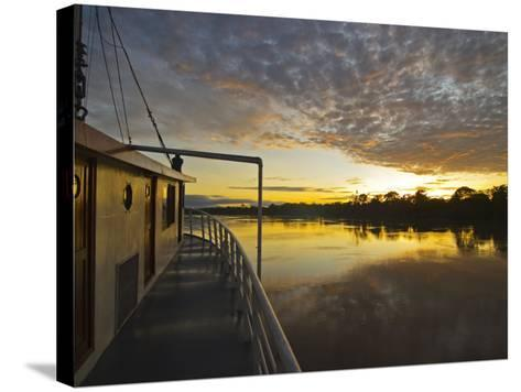 Amazon River, Sunrise on the Ayapua Riverboat, Yavari River, a Tributary of the Amazon River, Peru-Paul Harris-Stretched Canvas Print