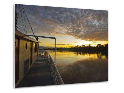 Amazon River, Sunrise on the Ayapua Riverboat, Yavari River, a Tributary of the Amazon River, Peru-Paul Harris-Metal Print
